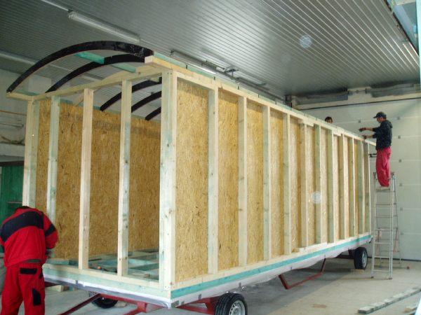 Construction d'une roulotte